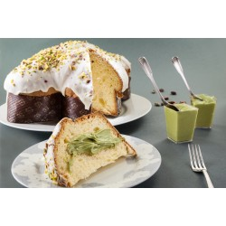 Pistachio Colomba (traditional Easter treat)