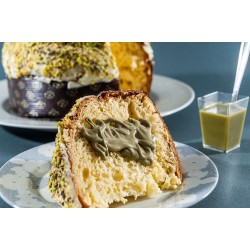 Pistachio Panettone (traditional Christmas treat)