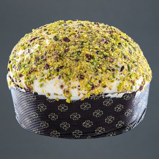 """Panettone Artigianale al Pistacchio - Granella e Crema con """"Pistacchio Verde di Bronte DOP"""" Traditional Bronte Sweets"""