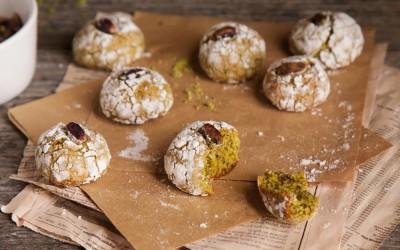 Crinkle, biscotti morbidi al pistacchio