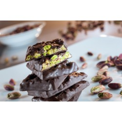 Pistachio Crispy Cake in Dark Chocolate